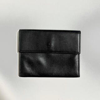 グッチ(Gucci)のGUCCI レザーカードケース 三つ折財布 ロゴ入り‼️(名刺入れ/定期入れ)