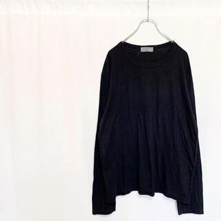 ヨウジヤマモト(Yohji Yamamoto)のYohji Yamamoto ラウンドネック ロングスリーブ Tシャツ(Tシャツ/カットソー(七分/長袖))