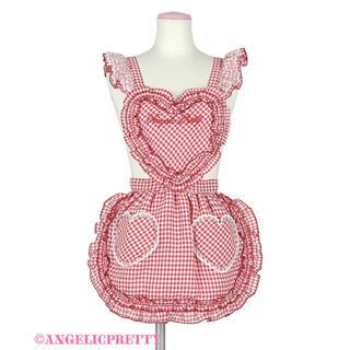 Angelic Pretty - Heartギンガムフリルエプロン