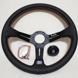 NARDI レザー ステアリング ホーンボタン S15 S14 R32 R33