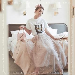エイミーイストワール(eimy istoire)のeimy istoireパールチュールスカート♡エイミーイストワールdarich(ロングスカート)