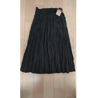 MUJI (無印良品) - 新品☆未使用 プリーツスカート <ブラック>