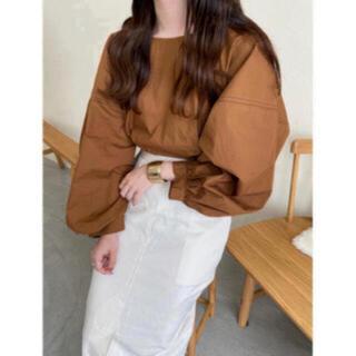 カスタネ(Kastane)の最終値下げ!lawgy stitch blouse  Brown(シャツ/ブラウス(長袖/七分))