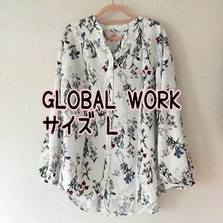 グローバルワーク(GLOBAL WORK)のグローバルワーク 花柄ブラウス L(シャツ/ブラウス(長袖/七分))