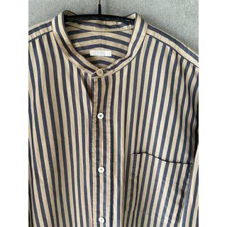 COMOLI - comoli 16aw ロンドンストライプ バンドカラーシャツ