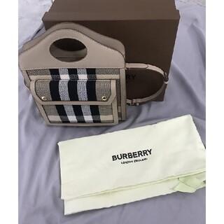BURBERRY - burberry☆ キャンバス&レザー ポケットバッグ