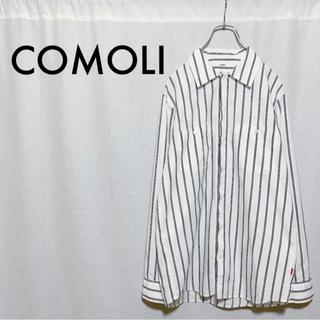 COMOLI - 【美品】KAIKO THE WORKER SHIRT STRIPE ストライプ