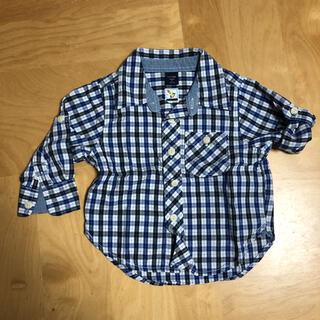 ベビーギャップ(babyGAP)のベビーギャップ チェックシャツ 80(シャツ/カットソー)