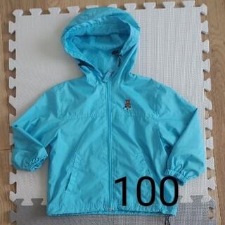 ミキハウス(mikihouse)のミキハウス 男の子 100 アウター ウィンドブレーカー 水色(ジャケット/上着)