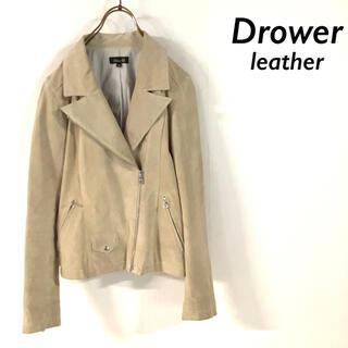 ドゥロワー(Drawer)のDrawer ドゥロワー 本革 スエードブルゾン  レザー ライダースジャケット(ライダースジャケット)