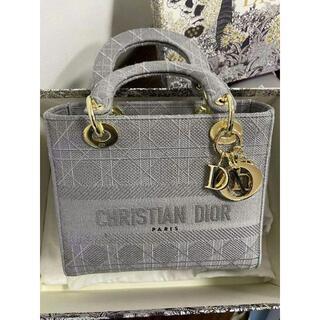 Christian Dior - DIOR◆LADY D-LITE ミディアムバッグ グレ ー