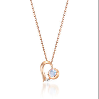 STAR JEWELRY - STAR JEWELRY【K10PG】ネックレス ムーンストーン ダイヤ