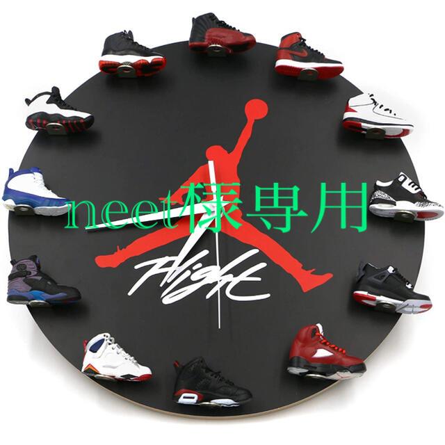 掛け時計 スニーカー インテリア/住まい/日用品のインテリア小物(掛時計/柱時計)の商品写真