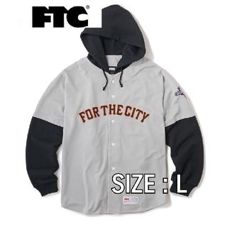 エフティーシー(FTC)のFTC21SPRING HOODED BASEBALL JERSEY GREY(シャツ)