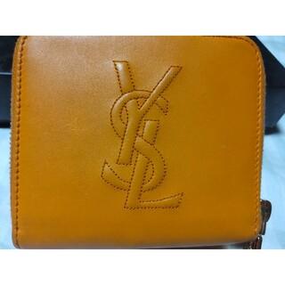 サンローラン(Saint Laurent)のイヴサンローラン レザー 二つ折り 財布 (財布)