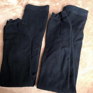ユニクロ(UNIQLO)の2枚 まとめ売り UNIQLO ユニクロ 140 ヒートテック タイツ 黒色 (靴下/タイツ)