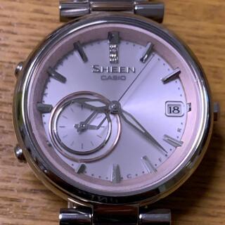 カシオ(CASIO)のカシオ シーン SHEEN Bluetooth ソーラー ダイヤ2P入り 腕時計(腕時計)