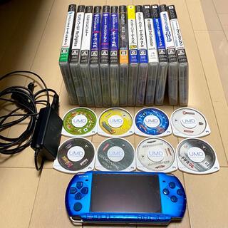 ソニー(SONY)のPlayStationPortable PSP-3000とソフトまとめ売りです。(携帯用ゲーム機本体)