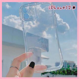 【新品未使用♡】iPhone12ケース クリアケース シンプル かわいい 韓国