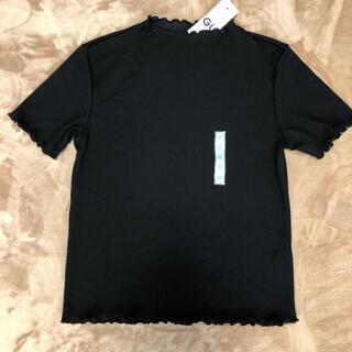 GU - 新品 GU ジーユー gu レディース Tシャツ 女の子 トップ 半袖 黒 M