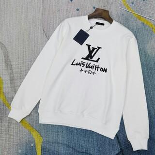 ルイヴィトン(LOUIS VUITTON)のニューファッション限定刺繡ロゴラウンドネックスウェットシャツ(スウェット)