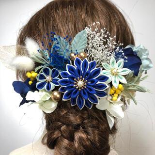 つまみ細工 髪飾り 成人式 結婚式 卒業式 シルク サテン