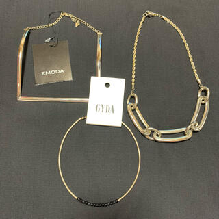 エモダ(EMODA)のEMODA GYDA ネックレス3点セット ゴールド スクエア チェーン(ネックレス)