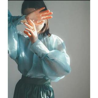 STUDIOUS - clane SHEER PUFF TOPS ブルー 新品タグ付き