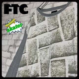 エフティーシー(FTC)の【スケーター♪】FTC エフティーシー/ロンT 総柄 刺繍ロゴ(Tシャツ/カットソー(七分/長袖))