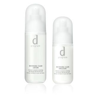 ディープログラム(d program)のd プログラム ホワイトニングクリアローション ホワイトニングクリアエマルジョン(化粧水/ローション)