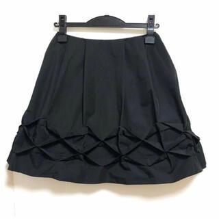 フォクシー(FOXEY)のフォクシーニューヨーク FOXEY NEW YORK ミニスカート38 - 黒 (ひざ丈スカート)