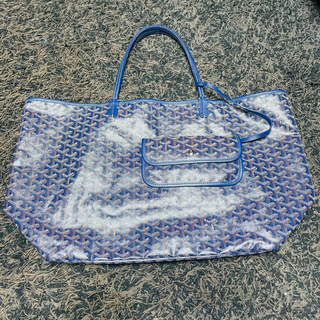 ゴヤール(GOYARD)のゴヤール トート サンルイ 数回使用の美品 ブルー(トートバッグ)