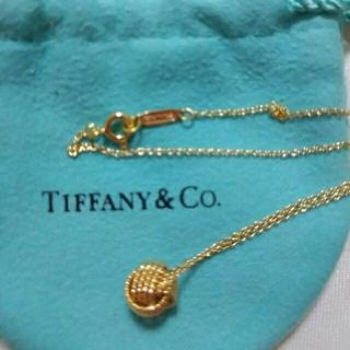 Tiffany & Co. - ティファニー 18k ツイストノットネックレス