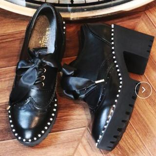 アクシーズファム(axes femme)のaxes femme POETIQUE パールチップシューズ(ローファー/革靴)