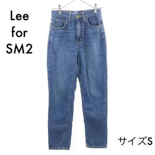 サマンサモスモス(SM2)のリー×サマンサモスモスブルー テーパード デニムパンツ S  Lee×SM2(デニム/ジーンズ)
