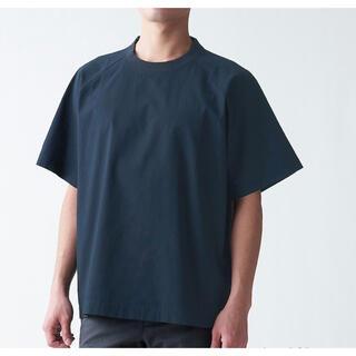 ムジルシリョウヒン(MUJI (無印良品))の【新品未使用】無印良品 メンズインド綿Tシャツ S-M ネイビー色(Tシャツ/カットソー(半袖/袖なし))