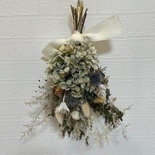 ドライフラワースワッグ ウエディングブーケ 花束 誕生日プレゼント インテリア(ドライフラワー)
