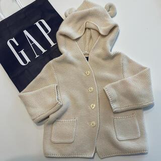 babyGAP - 【Baby GAP】ブラナンベアガーターセーター80フレンチバニラくま耳パーカー