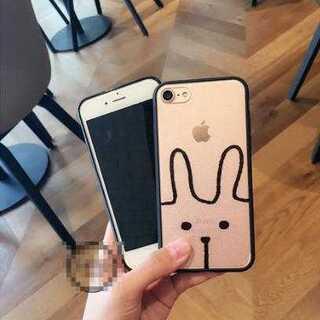 スマホケース クリア うさぎ iPhone7 かわいい シンプル TPU 保護