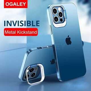 全4色♪大人気??クリア TPU スタンド機能 レンズ保護 iPhone