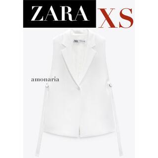ザラ(ZARA)の【新品/未着用】ZARA スリットベスト スリット入りベスト ジレ ベスト(ベスト/ジレ)