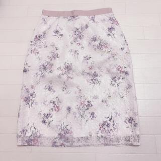 ミッシュマッシュ(MISCH MASCH)のミッシュマッシュ スカート タイトスカート レーススカート 花柄 ピンク(ひざ丈スカート)