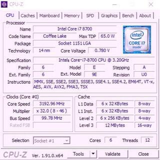 Intel Core i7-8700+マザーボードH370M D3H