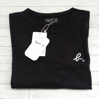 agnes b. - アニエスベー 半袖 Mサイズ ブラック Tシャツ ロゴ刺繍 即日発送