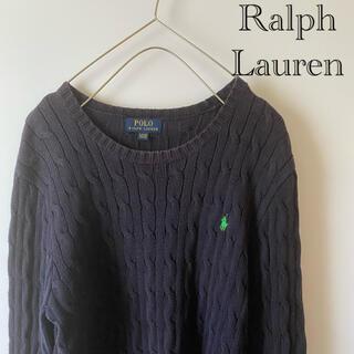 ポロラルフローレン(POLO RALPH LAUREN)のPOLORALPHLAURENラルフローレンニットセーターlネイビーパープル紫(ニット/セーター)