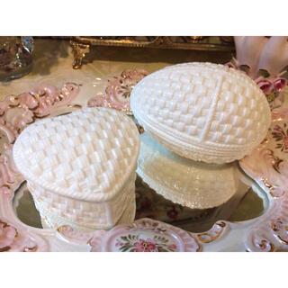 ティファニー(Tiffany & Co.)のティファニー シビルコノリー エッグ型 & ハート型 小物入れ 2点セット(小物入れ)