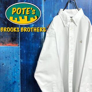 ブルックスブラザース(Brooks Brothers)の【ブルックスブラザーズ】ワンポイント刺繍ロゴスーピマ綿ボタンダウンシャツ(シャツ)
