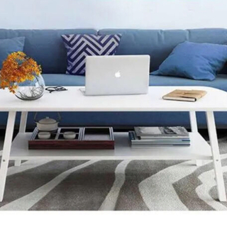 \\ 人気のホワイト // ローテーブル シンプルデザイン テーブル下収納付き(ローテーブル)