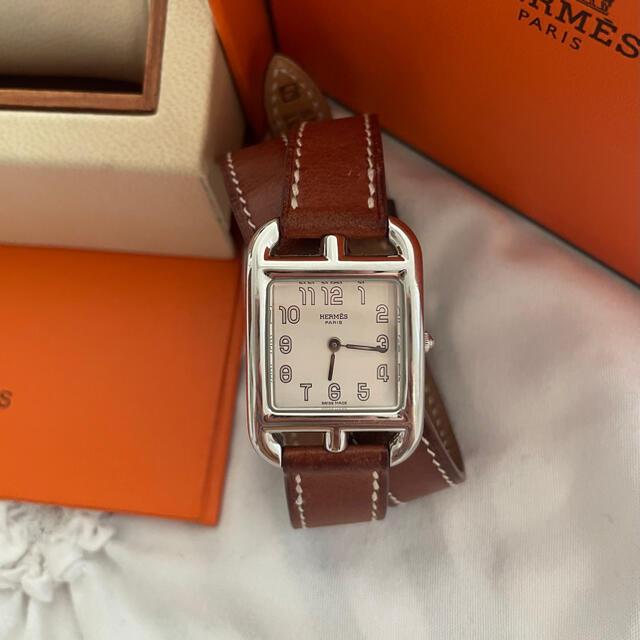 Hermes(エルメス)のHERMES ケープコッド 二連ベルト 白文字版 レディースのファッション小物(腕時計)の商品写真