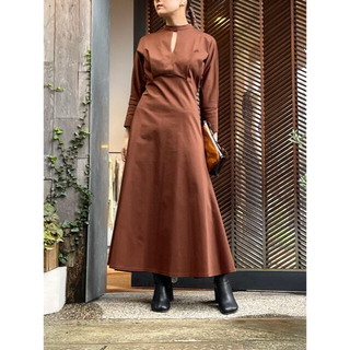 マメ(mame)の今季 Mame Kurogouchi Cotton Jersey Dress(ロングワンピース/マキシワンピース)